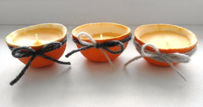 swieczki z pomaranczy